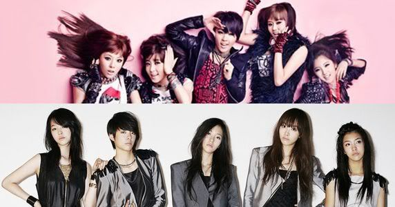 [F(x) & 4Minutes]F(x) and 4Minutes friendship revealed during Inkigayo's encore performance! Fx4minute
