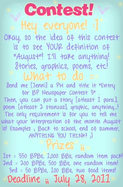 Xx- Bearville Place Newspaper//Issue 3 -xX BPNews-Contest