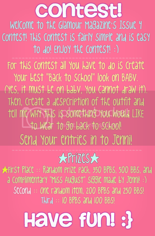 ~X;: Glamour Magazine//Issue 3 :;X~ Mag-Contest