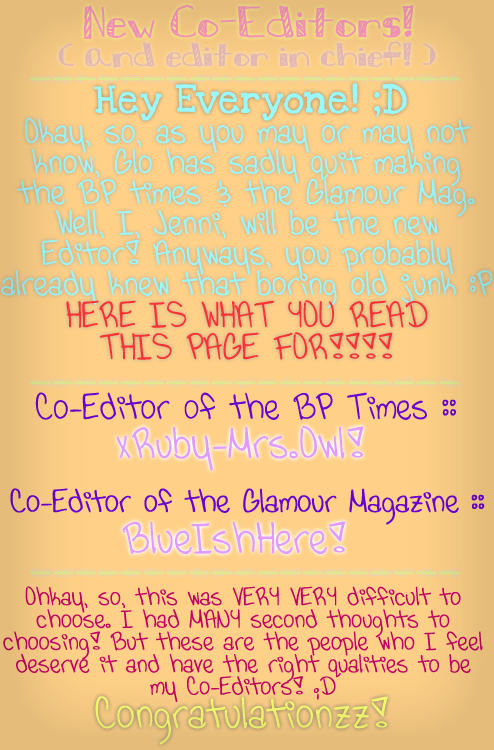Xx- Bearville Place Newspaper//Issue 3 -xX NEWCOEDITORS