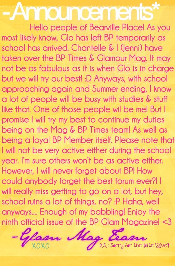 xx [ GLAMOUR MAG : Issue 9 - Aug.2012  GlamMag-Announcements