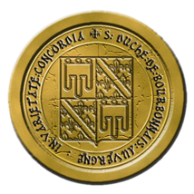Petit débat entre amis -Fermeture de l'université 24-11-1460 Sceaubourbonnaisjaune