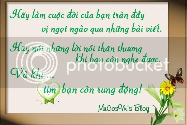 Thông điệp cho bạn,cho tôi và cho cuộc sống! Mrcos-haylamcuocdoi