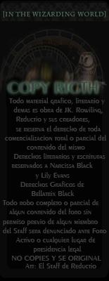 Empleo para Hogwarts Copyrigth