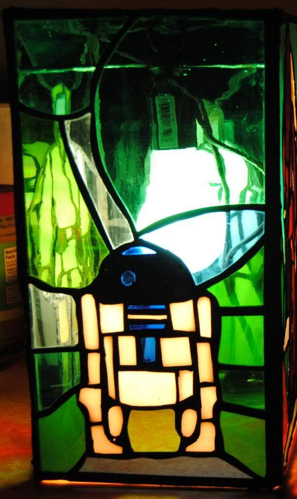 stained glass lamp based off the early bird kit FINISHED  4