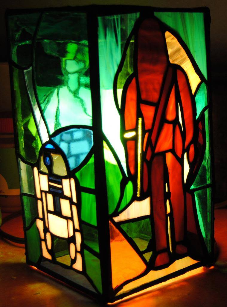 stained glass lamp based off the early bird kit FINISHED  C