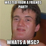 MSC Memes and Reactions Wasted1meme