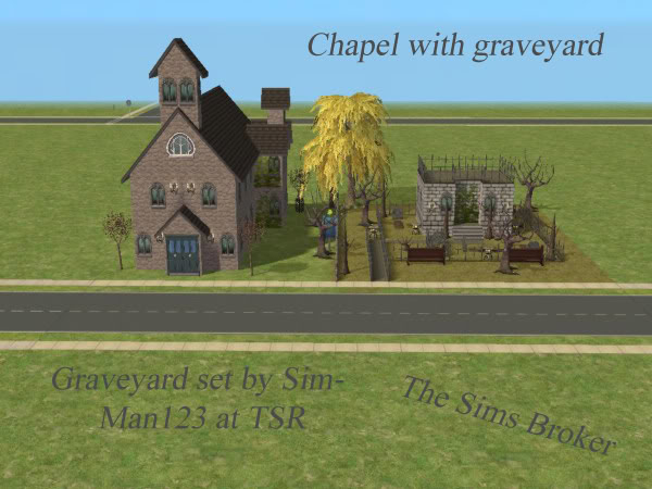 The Sims Broker Chapelwithgraveyard
