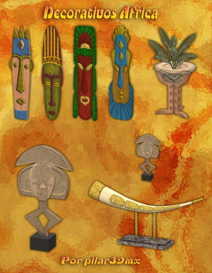 Set de decoración Africa Muestraafricadeco