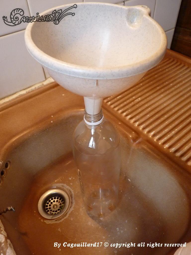 Réalisation d'une recette de CO2 artisanal avec gel longue durée     P1010781