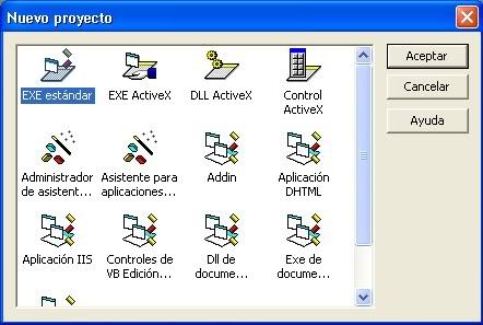 Tutorial y Introduccion Visual Basic... NuevoProyecto