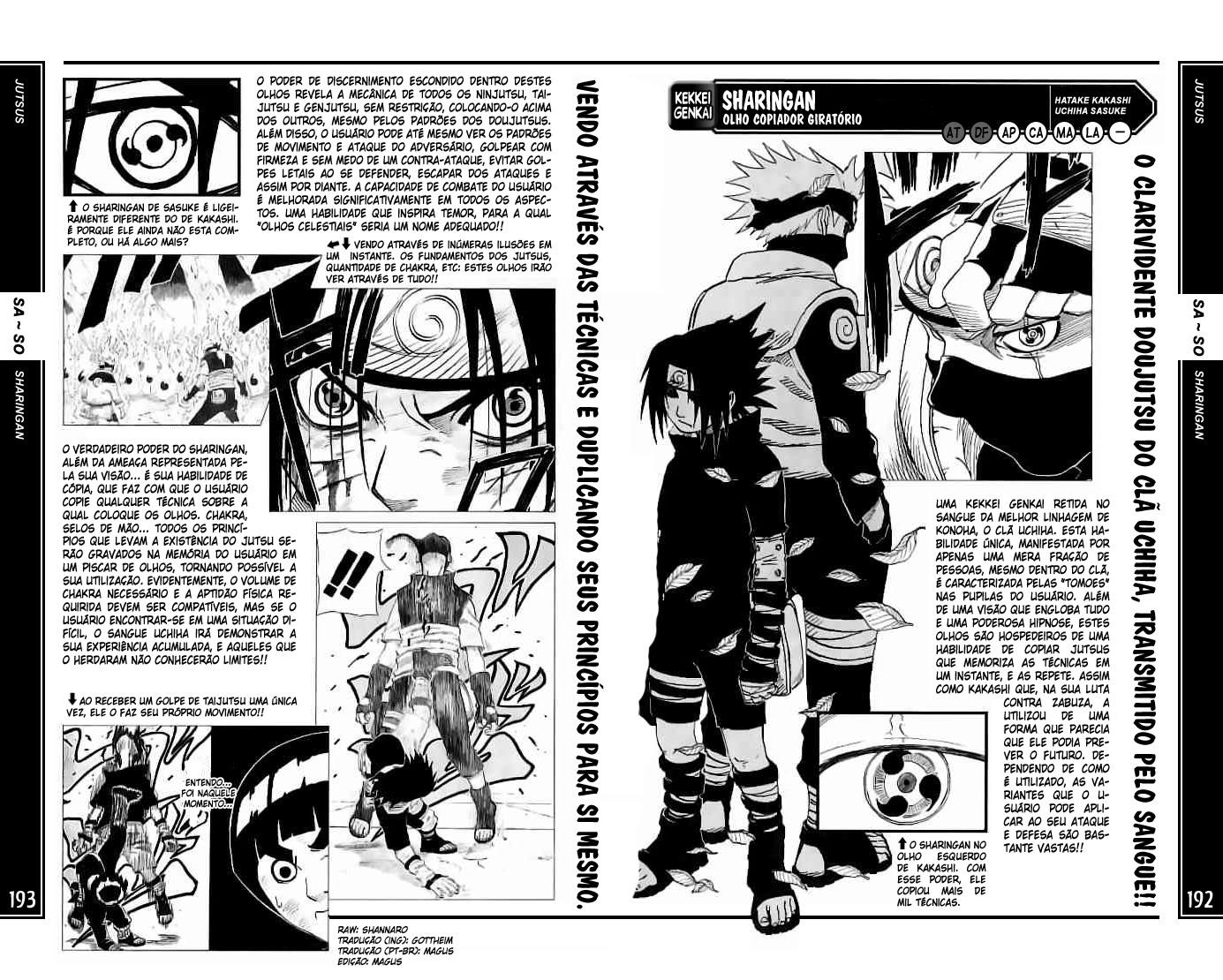 [Ficha Crazzy] Uchiha Itachi 192-193