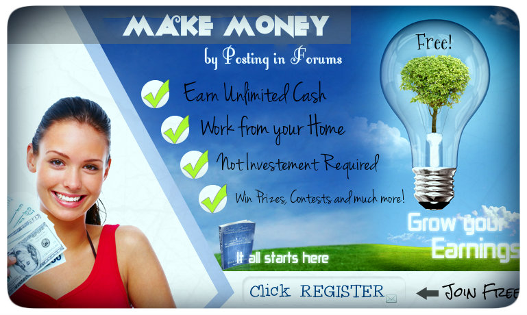 Make Money by Posting Forum