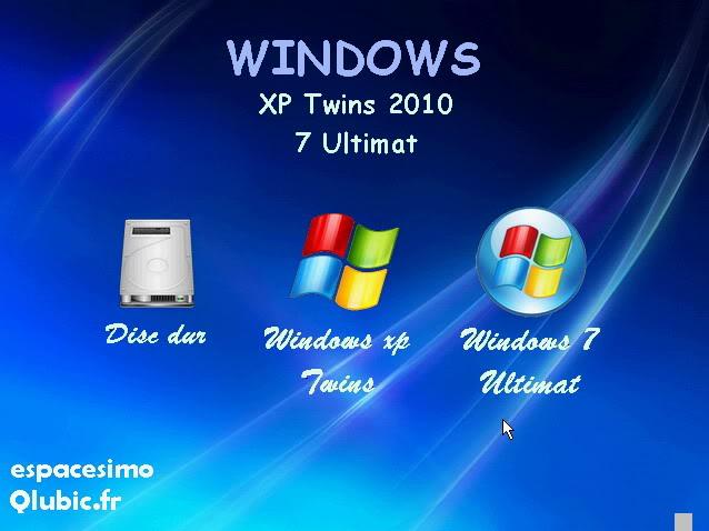 لأول مرة نسختين من windows xp twins sp3 و windows 7 على قرص واحد تجربة ممتعة Cap0