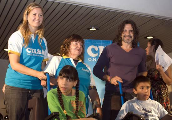 Osvaldo en un evento solidario Osvaldo_Laport_y_CILSA