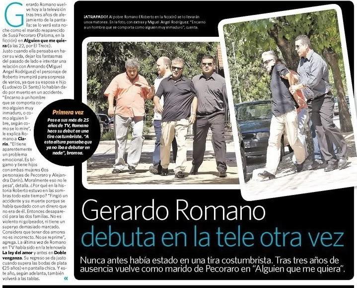 Gerardo Romano se suma  aAlguien que me quiera Romano-clarin
