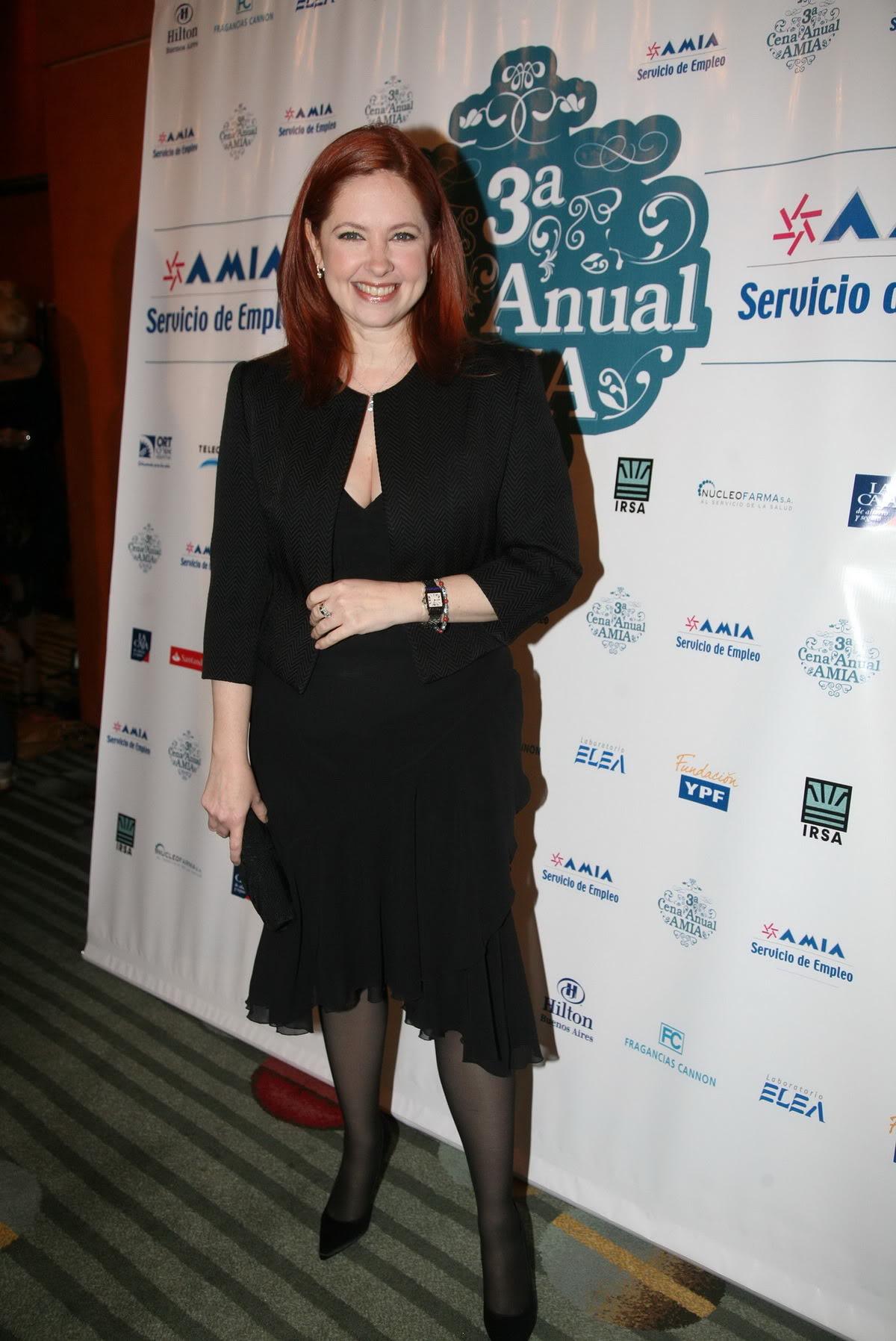 Andrea en la cena de la AMIA Andrea-del-Boca-1
