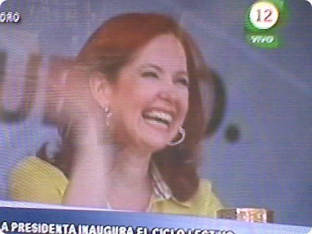 Andrea con la Presidenta Andrea-del-boca