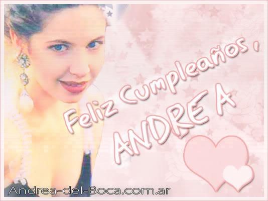 День рождения Андреа Cumple_Andy