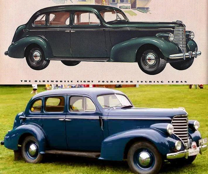 Édifice Frasier Thornton à Cookshire Oldsmobile%201938%20ad