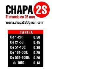 chapas de nuestro logo Chapas