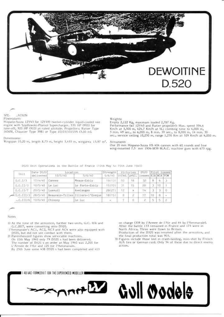 Dewoitine D. 520, Gull Wings 1/48, 1983 IMG_0001-11