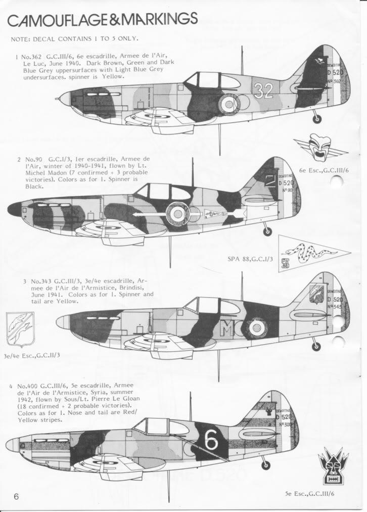 Dewoitine D. 520, Gull Wings 1/48, 1983 IMG_0006-6