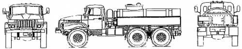 Infos précieuses en cas de projet de camions Russes Ural_375d_fuel_tanker