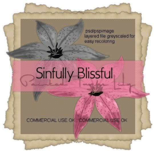 - Sinfully Blissful Scrap Freebies - Sbs_paintedtigerlilyPREVIEW