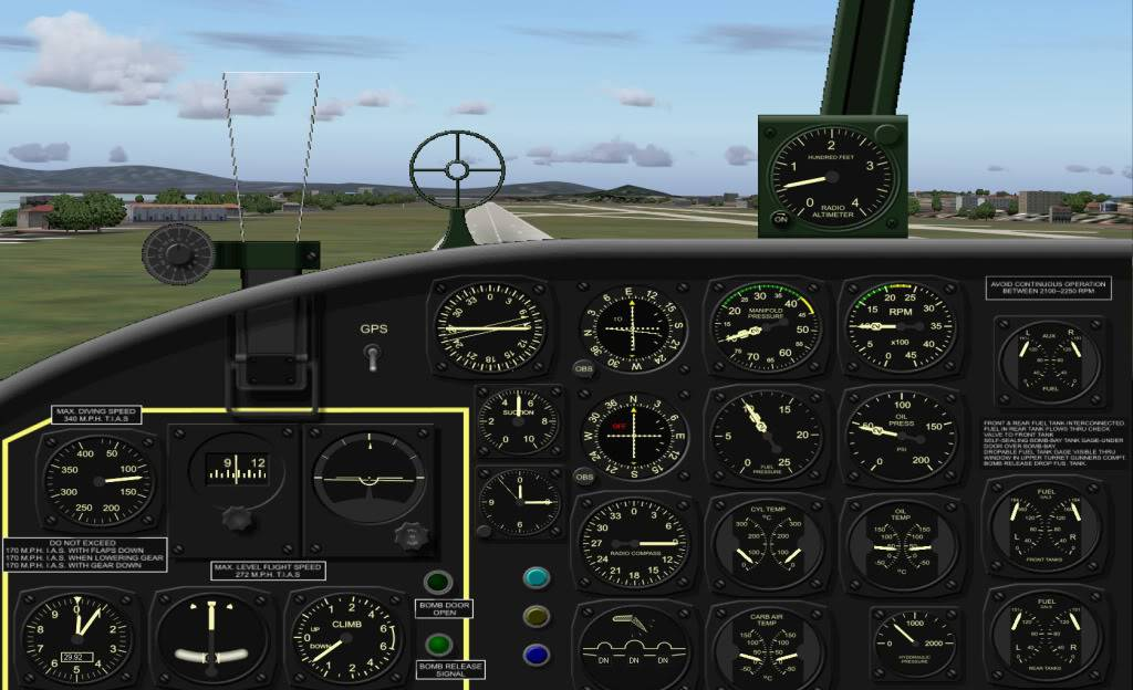 [FS9] Voando com o Mitchell B25 Painmitcheell