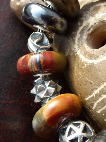 Macrow and TB stones with TB small abstract silvers... Tigerironbraceletclose1