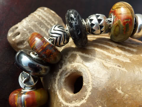 Macrow and TB stones with TB small abstract silvers... Tigerironbraceletclose2