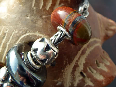 Macrow and TB stones with TB small abstract silvers... Tigerironbraceletclose4
