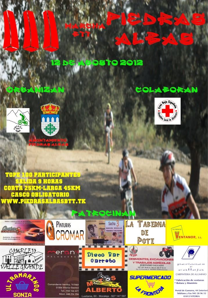 Marcha BTT Piedras Albas 2012. Cartel2012