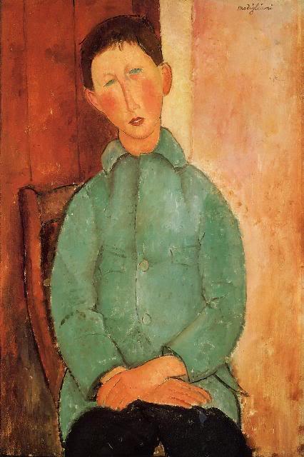 Amadeo Modiljani BoyinaBlueShirt