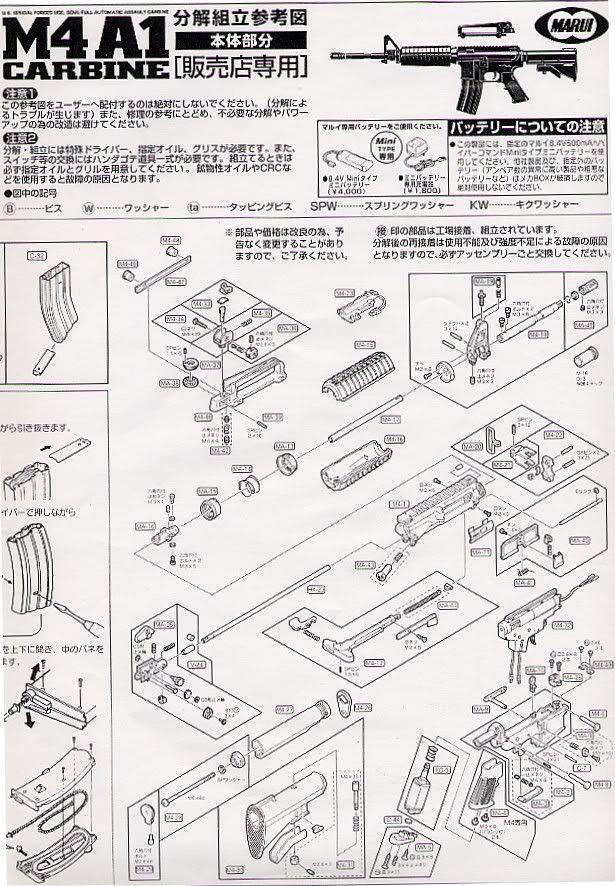 Desmontaje M4 Marui M4_1