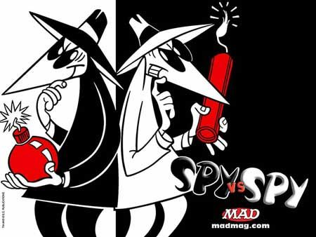 What are you gonna be for Halloween? Spy-vs-spy