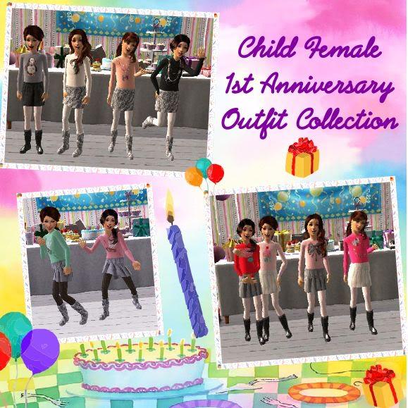 Birdgurl's Sims 2 Creations - Page 3 ChildFemale1stAnniversaryOutfitCollectionbanner