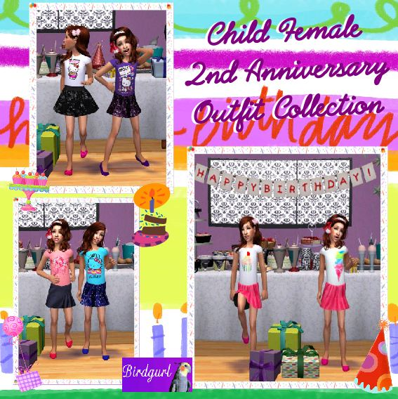 Birdgurl's Sims 2 Creations - Page 6 ChildFemale2ndAnniversaryOutfitCollectionbanner1_zps3d37e783