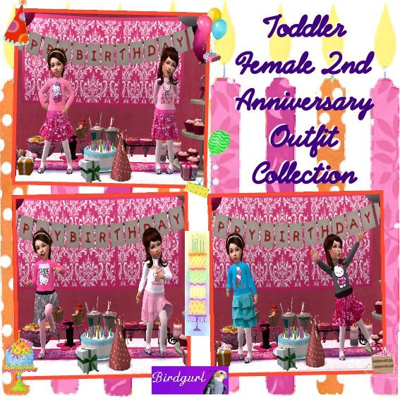 Birdgurl's Sims 2 Creations - Page 6 ToddlerFemale2ndAnniversaryOutfitCollection2banner1_zps6a00f6d1