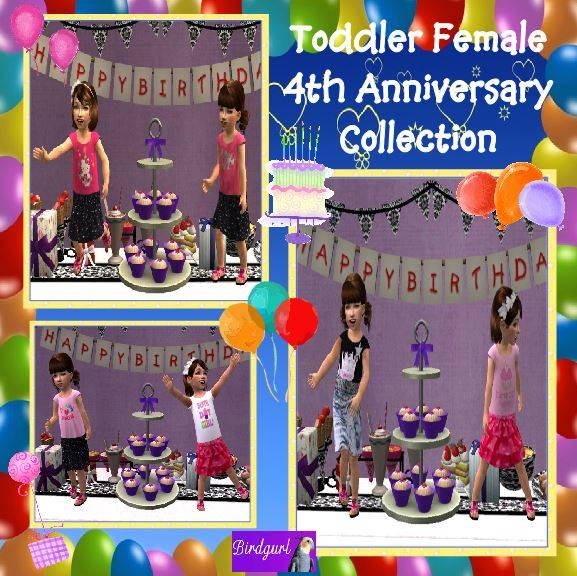 Birdgurl's Sims 2 Creations [Jan. 2015] ToddlerFemale4thAnniversaryCollectionbanner1_zps82a74217