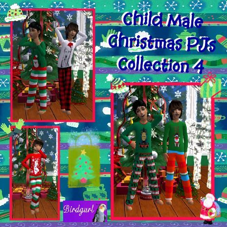 Birdgurl's Sims 2 Creations - Page 9 ChildMaleChristmasPJsCollection4banner_zps7777cf4a