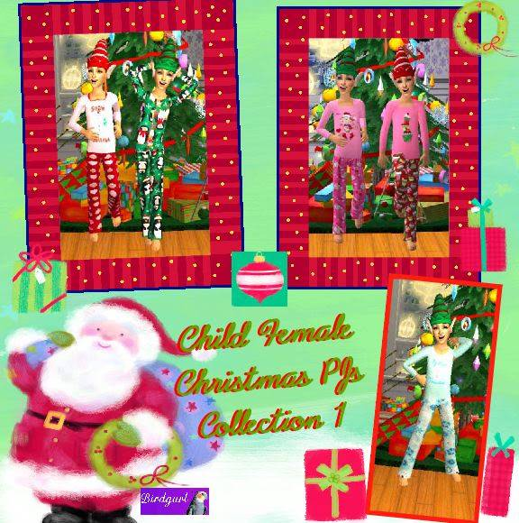 Birdgurl's Sims 2 Creations - Page 2 ChildFemaleChristmasPJsCollection1banner