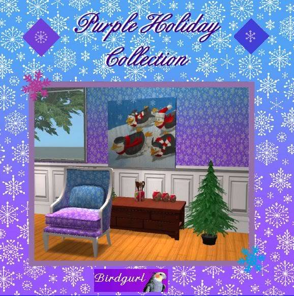 Birdgurl's Sims 2 Creations - Page 2 PurpleHolidayCollectionbanner2