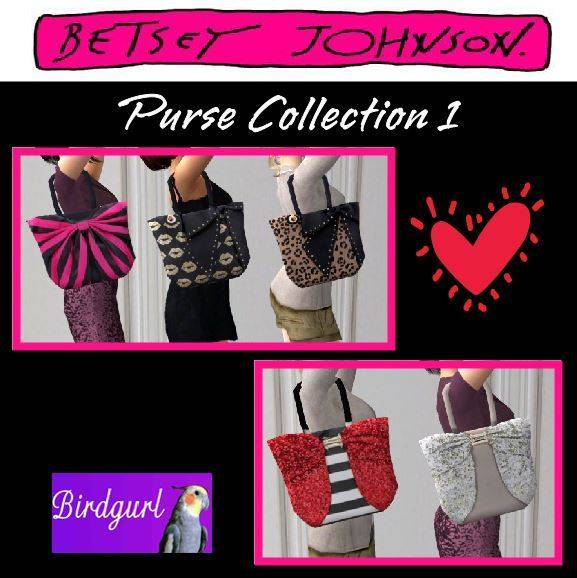 Birdgurl's Sims 2 Creations [Advent Calendar - Dec. 2015] Betsy%20Johnson%20Purse%20Collection%201_zpsidhqotmz