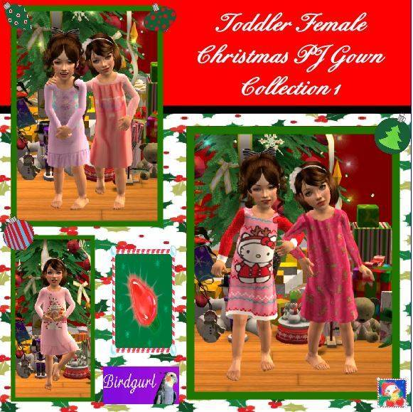 Birdgurl's Sims 2 Creations [Advent Calendar - Dec. 2015] Toddler%20Female%20Christmas%20PJ%20Gown%20Collection%201%20banner_zps4ss3cpgz