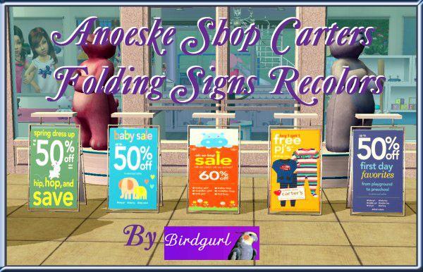 Birdgurl's Sims 2 Creations - Page 4 CartersAnoeskafoldingsignsrecolorsbanner