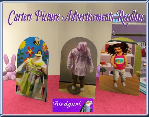 Birdgurl's Sims 2 Creations - Page 4 CartersPictureAdvertisementsRecolorsbanner1