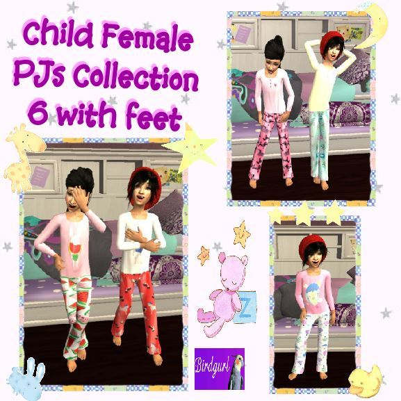Birdgurl's Sims 2 Creations - Page 9 Child%20Female%20PJ%20Collection%206%20with%20feet%20banner_zpskjdfoc4e