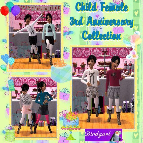 Birdgurl's Sims 2 Creations - Page 9 ChildFemale3rdAnniversaryCollectionbanner1_zps4d427b2f